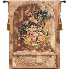 Bouquet Niche French  Tapestry wall hanging
