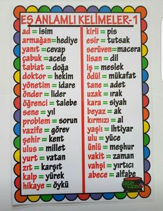 Es anlam Turkish Lessons, Learn Turkish Language, Dyslexia, My King, Motivation, Learning, School, Teacher, Professor