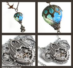 Bird and Balloon pendant   Time for Romance Pendant