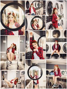 Shelby | Senior 2018 | V.R. Eaton High School senior, pictures, photography, portraits, high school, retro, bandana, flannel, converse, laundromat, laundry, red, lipstick, classic, coke, vintage, styled, shoot, session, fort worth, dfw, texas, tx www.kyleeswisherphotography.com