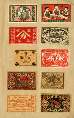 Did you know that collecting matchbox labels is called phillumeny? I didn't until I read this article about Phillumeny and Phillumenists over at printmag. Japan was among the industry leaders. Chinese Design, Japanese Graphic Design, Vintage Graphic Design, Graphic Design Posters, Retro Design, Graphic Design Illustration, Graphic Design Inspiration, Graphic Prints, Design Art