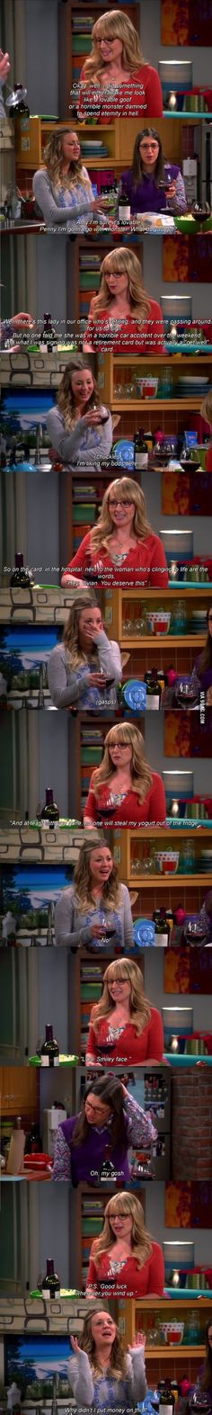 hahaha Bernadette- I love the Big Bang Theory!!