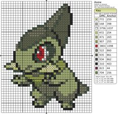Pokemon Cross Stitch – Axew | My Random Thoughts Blog