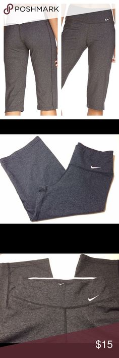 XS Nike Legend Regular Dri Fit Pink/Gray Capris Nike Legend 2.0 Regular Dri Fit in Heather Gray and Light Pink size XS.  Worn may be a handful of times,but no real signs of wear. Just too small for me now. Nike Pants Capris