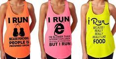 Running Humor Tank Tops - 5 Designs & Colors!   Jane.com  Haha loveee theese shirts!