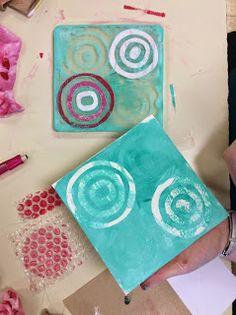 That Little Art Teacher: Gelli Plates, monoprinting, principles, and a critique