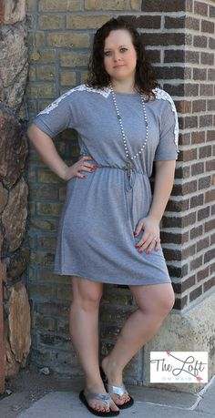 Love this knit mini with crochet detailing...  Shop this look at The Loft in store or online...