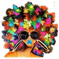 61 Super Ideas For Black Art Afro Queens My Black Is Beautiful, Female Art, Art Girl, Black Girl Art, Black Girl Magic, Art, Magic Art, Canvas Art, Black Love Art