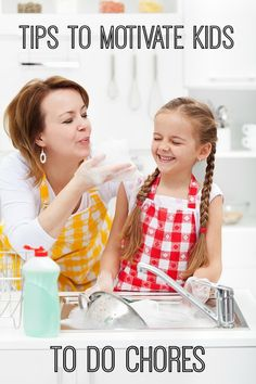 Three Tips to Motivate Kids to Do Chores. Looking for ways to get your kids to help you clean? These three tips will help a TON! Especially #2.