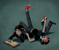 I feel so bad for Karkat here. Terezi won't stop bothering him!