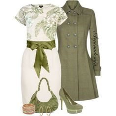 Dubarry Tweed Coat matched perfectly with a spring dress.