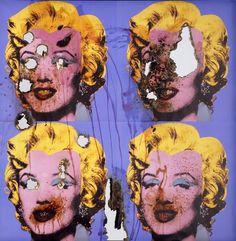 Douglas Gordon - Self-Portrait of You + Me (Four Blue Marilyns). Smoke and mirror. Wes Naman, Matthieu Bourel, Douglas Gordon, Smoke And Mirrors, Expositions, Gcse Art, Oeuvre D'art, You And I, Halloween Face Makeup