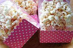 Valentine's: Dye-Free Pink Strawberry Popcorn. Made with real strawberries.