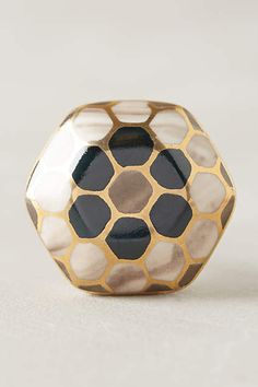 Could be an interesting choice for drawer pulls// River Reflection Knob - anthropologie.com