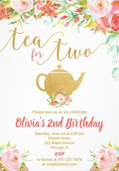 3rd Birthday Party For Girls, Second Birthday Ideas, Girl Birthday Themes, 3rd Birthday Parties, 2nd Birthday Invitations, Gold Girl, Party Ideas, Threenager, Rose Gold