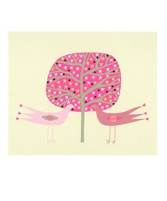 "Valentine Bird Couple - How tweet  digital print called ""Birds of a Feather"" by Caitlihne"