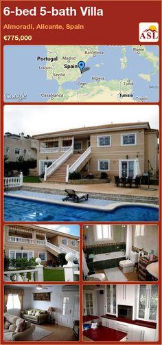 6-bed 5-bath Villa in Almoradi, Alicante, Spain ►€775,000 #PropertyForSaleInSpain
