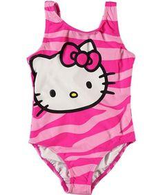 """Hello Kitty """"Wild Water"""" 1-Piece Swimsuit (Sizes « Clothing Impulse"""