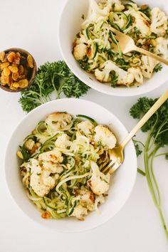 Sicilian Style Zucchini Spaghetti