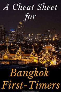 A Cheat Sheet For Bangkok First Timers- Planning a trip to Thailand? Bangkok is a can't miss on a trip to Thailand and Southeast Asia. This guide has the tips and advice you need to plan your Bangkok itinerary and manage this amazing city! Bangkok Thailand, Bangkok Guide, Bangkok Itinerary, Thailand Travel Tips, Travel To Bangkok, Trip To Thailand, Thailand Adventure, Thailand Photos, Visit Thailand