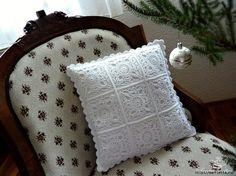 Edivana Croche: Almofada Branca Muito Chic