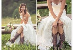Wedding dress with boots? Cute.
