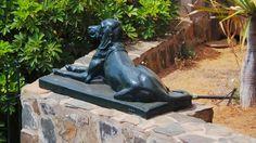 Desde las Islas Canarias  ..Fotografias  : Arte en las Calles...esculturas...Perro en el Jard...
