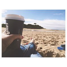 I could think of worse ways to start the day. #beach #Anglesea #greatoceanroad #earlystart #coffee #kidsalreadyswimming #buildingsandcastles #vitamind #caffeine #coffeeandbeach #holiday #fun #thisiswhatmemoriesaremadeof by emilyblackphotography http://ift.tt/1KosRIg