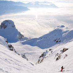 Skiing above the clouds. I can't describe this feeling, but I will never forget about it.