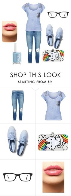 """""""Chillin' At the Mall"""" by ajamorrisey on Polyvore featuring J Brand, Keds, Ray-Ban, LASplash, Essie, women's clothing, women's fashion, women, female and woman"""