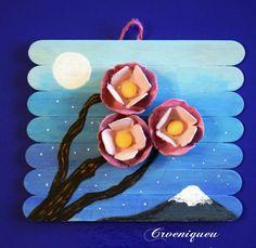 Cherry blossom, spatula, cseresznyevirág, iskola, school Cherry Blossom, School, Handmade, Painting, Art, Art Background, Hand Made, Painting Art, Kunst
