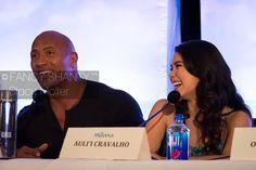 Photos from the #Moana press conference: Dwayne Johnson (voice of Maui) & Auli'i Cravalho (voice of Moana)