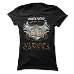 woman with a CAMERA T Shirts, Hoodies. Check price ==► https://www.sunfrog.com/LifeStyle/WOMAN-WITH-A-CAMERA.html?41382