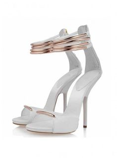 White Gladiator Sandals Heels  Tsaa Heel