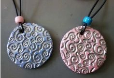 Mother's Day Necklaces, No Noodles Sorry at Christine F's - Crafts For Teens, Diy And Crafts, Arts And Crafts, Mother And Father, Painting For Kids, Clay Creations, Toddler Crafts, Clay Art, Ceramic Art