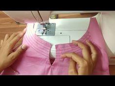 Very Easy and beautiful neck design making Churidhar Neck Designs, Neck Designs For Suits, Designs For Dresses, Dress Neck Designs, Hand Designs, New Kurti Designs, Fancy Blouse Designs, Sharara Designs, Collar Kurti Design
