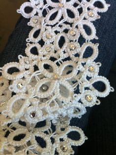 Needle Tatting and other Nonsense: The Sash Grows