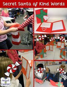 This is one of my very favorite holiday activities~Secret Santa of Kind Words!