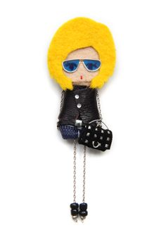 Rock. # felt dolls # brooche doll # custom doll # minimis