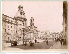 Italie, Roma, Piazza Navona 1880
