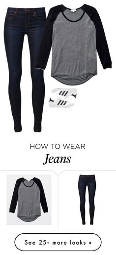 """""""Sin título #4367"""" by xoxominyeol on Polyvore featuring Joe's Jeans, Wilfred and adidas Originals"""