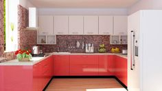 U Shaped Kitchen Cabinets in Bangalore