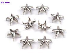 50 Ziernieten 12 mm Stern silber von fashion-dekoatelier auf DaWanda.com