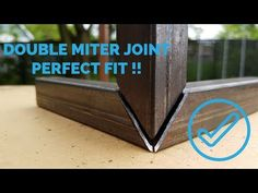 Double miter corner joint [ HOW TO ] - YouTube