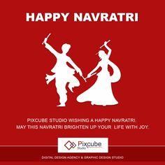 #Pixcube #studio wishing a happy navratri.  may this navratri brighten up your life with joy.