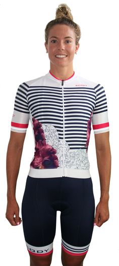 Marin White Women's OPTIMISE A.I.R. Cycle Jersey - Race Fit, Full Length Zip | Scody | SCODY