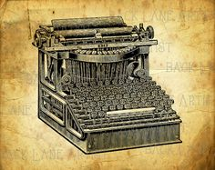 Hey, I found this really awesome Etsy listing at https://www.etsy.com/listing/225431245/vintage-typewriter-drawing-clipart