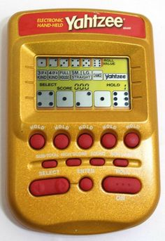 Vintage Yahtzee Electronic Handheld Game 2002 Hasbro Yahtzee Gold #Hasbro Electronics, Games, Store, Gold, Vintage, Ebay, Tent, Shop Local, Larger