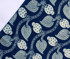 Sold By Yard Indigo Blue fabric Cotton Fabric Printed Blue Fabric, Cotton Fabric, Indian Fabric, Fabric Shop, Pattern Blocks, Printed Cotton, Printing On Fabric, Blue And White, Indigo Blue