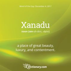 Xanadu. The upper northwest in the United States has some beautiful, picturesque places that will take one's breath away! What's the most beautiful place you've visited that took your breath away? #wordoftheday #wotd #grammar #tabletopics #speeches #D3TM #Toastmasters #ToastmastersInternationalClub